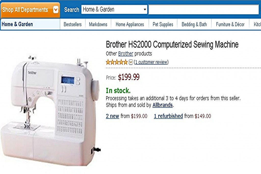 Brother HS2000 Computerized Sewing Machine