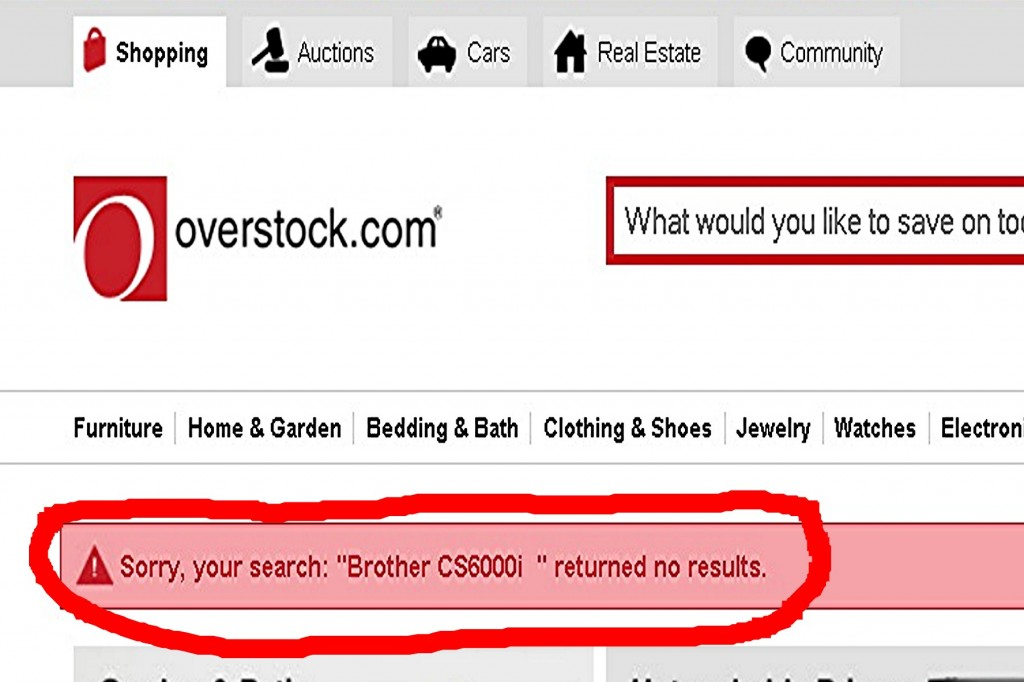 Overstock No Results
