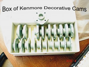 Box of 1973 Kenmore Cams