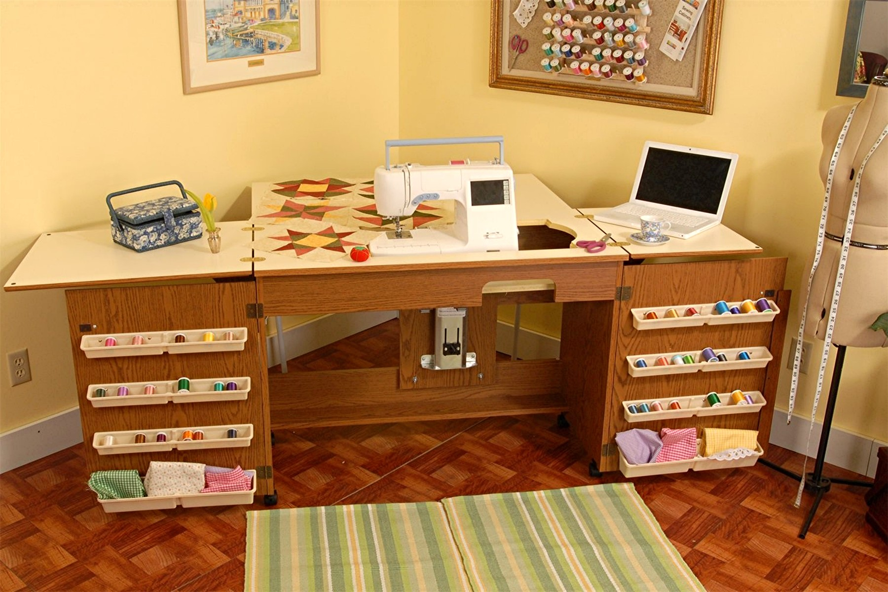 Great Ideas For Sewing Tables And Cabinets Erin Says Sew